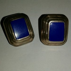 Jewelry - Vintage Taxco Sterling Lapis Earrings